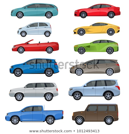 Different cars and delivery vector illustrations set. Stock photo © RAStudio