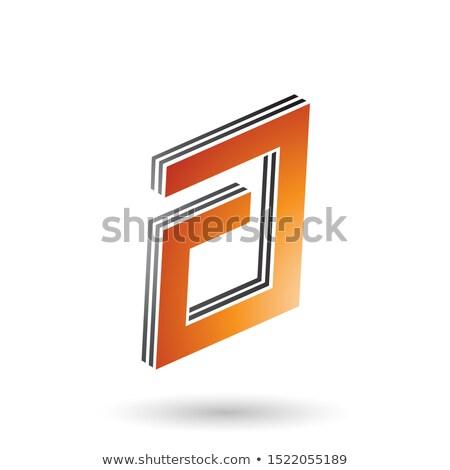 Narancs fekete négyszögletes réteges levél terv Stock fotó © cidepix
