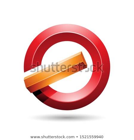 Turuncu kırmızı parlak mektup g ikon soyut Stok fotoğraf © cidepix