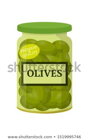 Préservé alimentaire olives jar légumes mariné Photo stock © robuart