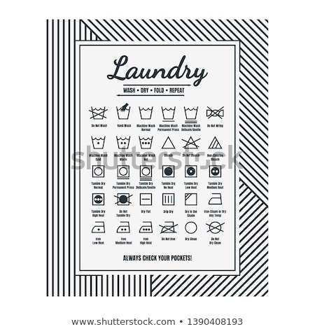 прачечной направлять стиральные ухода признаков текстильной Сток-фото © beaubelle