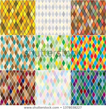 Harlequin's polychromatic mosaic patchwork, multi-colored seamless patterns, set of 9 colorful tiles stock photo © Glasaigh