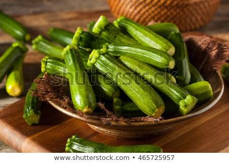 Frischen grünen Zucchini Wasser schwarz Stock foto © marylooo