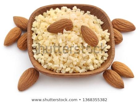 klein · stukken · gehakt · amandelen · geheel · voedsel - stockfoto © bdspn