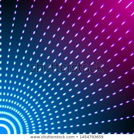Parlak parlak neon hatları kısa rays Stok fotoğraf © SwillSkill