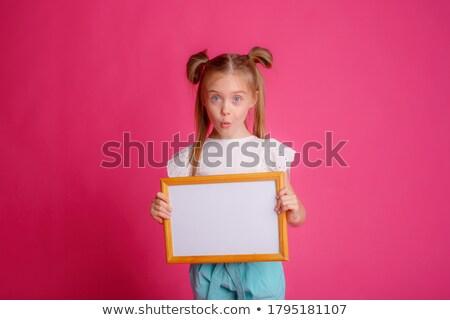 Schoolbord vijf gelukkig kinderen illustratie kind Stockfoto © colematt