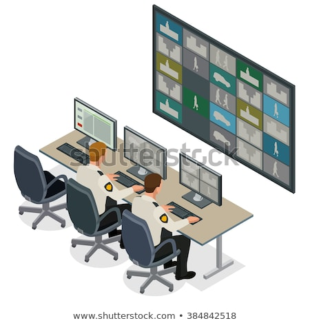 Video Online Surveillance Security Camera Vector Stock photo © pikepicture