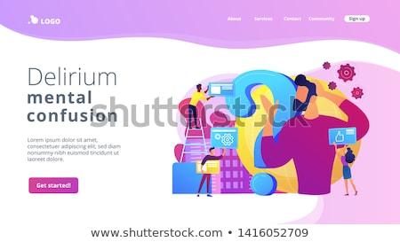 Vezetőség leszállás oldal üzletember célok felfelé Stock fotó © RAStudio