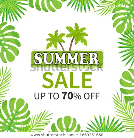 Summer Sale Up to 70 Percent Palm Tree Banner Stock photo © robuart