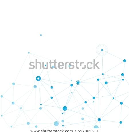 Modern vector design with elements of molecular bonds Stock photo © designleo
