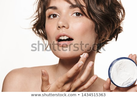 Schoonheid portret jonge topless vrouw gekruld Stockfoto © deandrobot
