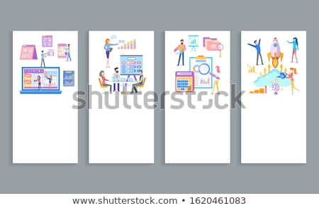 business · software · oplossing · analyse · vector · website - stockfoto © robuart