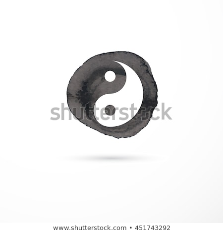 Alternatieve geneeskunde yin yang vector aquarel icon gezondheid Stockfoto © marish