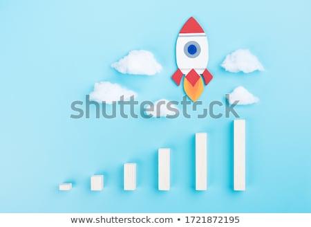 Raket business project startup oplossing vector Stockfoto © robuart
