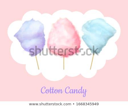 甘い 青 綿 キャンディ 味 孤立した ストックフォト © robuart