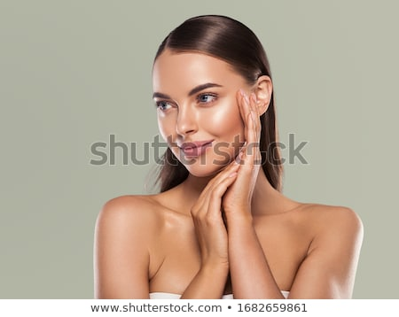 Beautiful girl with clean fresh skin close up. Skin care concept Stock photo © serdechny