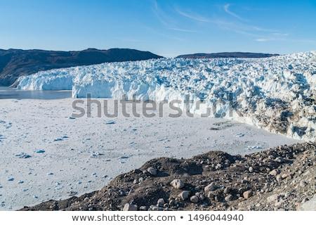 Gleccser elöl nyugat panorámakép kilátás klímaváltozás Stock fotó © Maridav