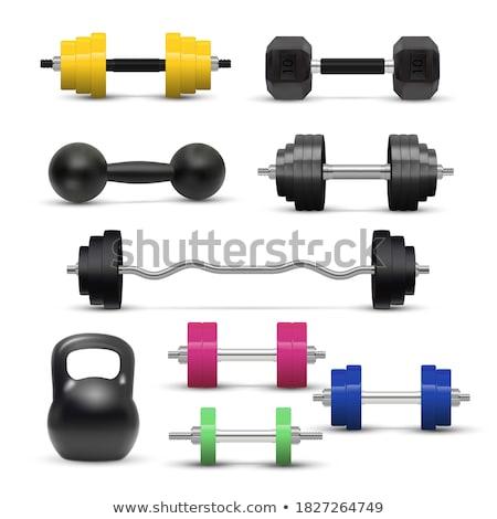 Barbells, Kettlebells And Dumbbells Set Vector Stock photo © pikepicture