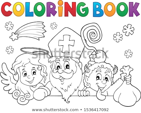 Coloring book Saint Nicholas Day topic 1 Stock photo © clairev
