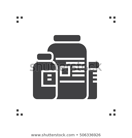 medicine healthcare bottles supplements icon vector illustration stock photo © pikepicture