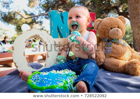 A Happy one Year Birthday to all the family Stock photo © Lopolo