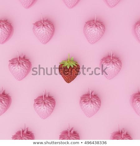 розовый · клубники · шоколадом · фрукты · лет · завтрак - Сток-фото © CarmenSteiner
