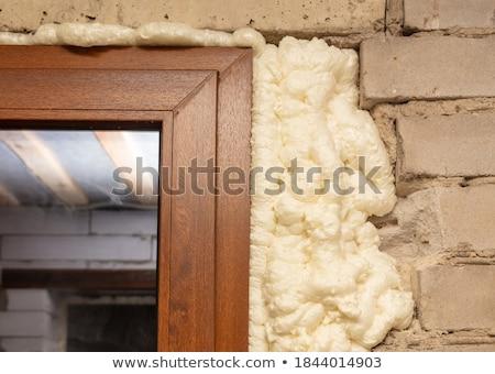 Porta janela plástico espuma Foto stock © simazoran