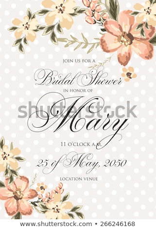 Bridal Shower Greeting Gift Labels Stock photo © Anna_leni