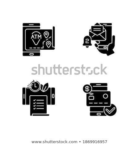 Set banking icons glyph. For mobile concepts and web apps. Stock photo © smoki