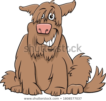 Rajz kócos kutya kutyakölyök képregény karakter Stock fotó © izakowski