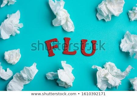 слово грипп используемый синий здоровья Сток-фото © nito