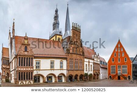 рынке квадратный Германия ратуша Церкви дома Сток-фото © borisb17