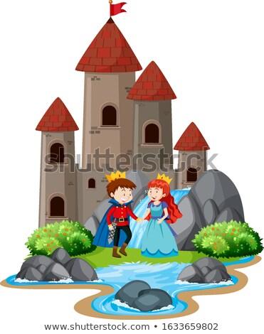 Escena príncipe princesa grande castillo Foto stock © bluering