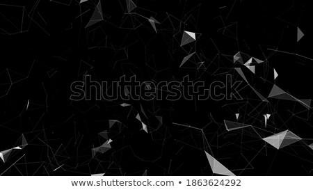 Fekete kék absztrakt futurisztikus illusztráció fehér Stock fotó © karetniy