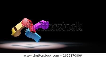 Renkli siyah bo 3d illustration ışık mavi Stok fotoğraf © make