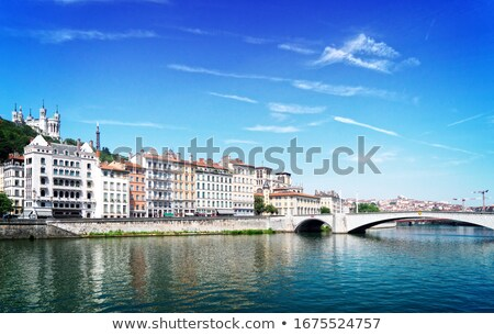 Lyon, France in a beautiful summer night Stock photo © neirfy
