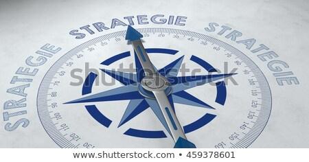 3D iránytű tű mutat szöveg megoldás Stock fotó © tashatuvango
