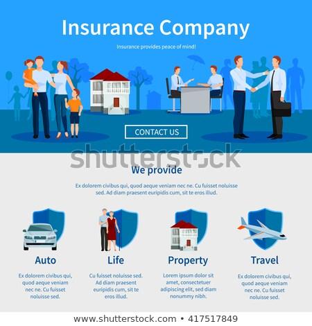 Coche casa familia seguro empresa sitio web Foto stock © robuart