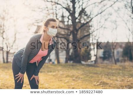 Passen Frau Krise Pause läuft Park Stock foto © Kzenon