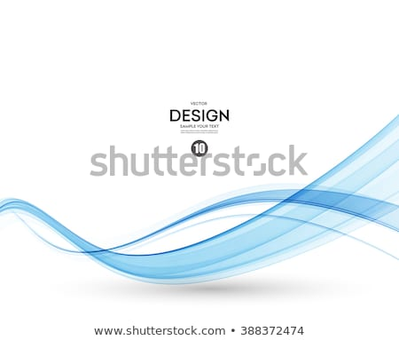 Modern kék görbe vonalak folyik fehér Stock fotó © SArts