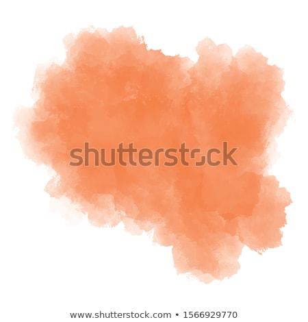 Rojo naranja acuarela mancha aislado blanco Foto stock © ShustrikS
