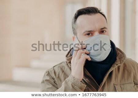 Adulto homem doente médico máscara infecção Foto stock © vkstudio