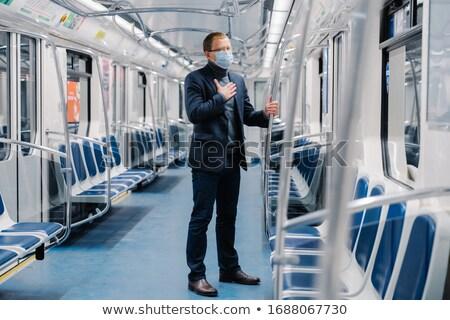 Coronavirus ziek man onwel ademhaling medische Stockfoto © vkstudio
