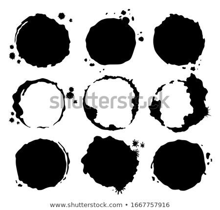 Kahve siyah kirli fincan sıçrama Stok fotoğraf © designer_things