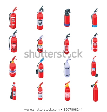 Firefighter Equipment Isometric Icons Set Vector Stock photo © pikepicture