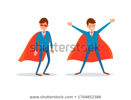 Man Wearing Robe Like Hero, Businessman Superman Stock photo © robuart