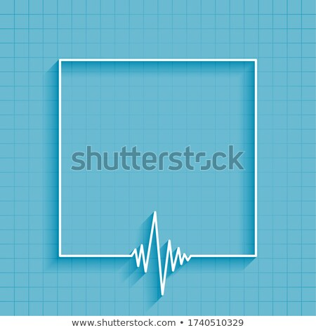 medical heartbeat cardiograph line background with text space Stock photo © SArts