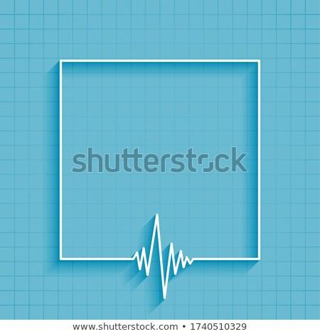 医療 ハートビート 行 文字 スペース 抽象的な ストックフォト © SArts