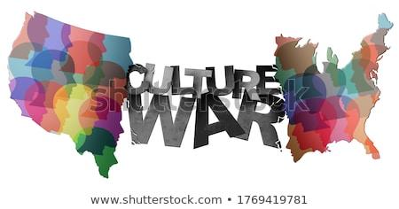 Kültürel sosyal ayırt etme ırkçılık topluluk çeşitlilik Stok fotoğraf © Lightsource