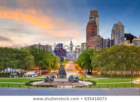 Philadelphia sunset night Stock photo © vichie81